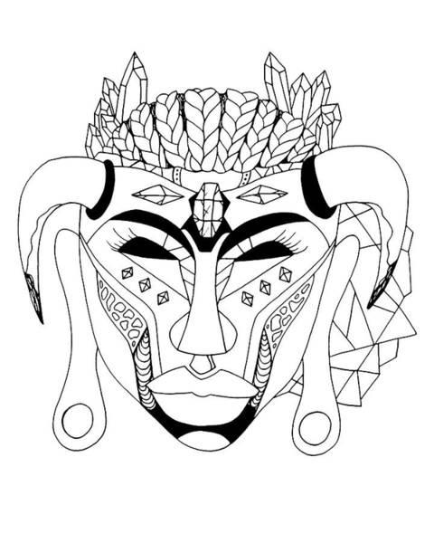 Drawing - Mask No.10 by Kenal Louis