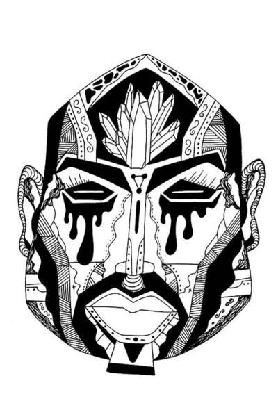 Drawing - Mask No.9 by Kenal Louis