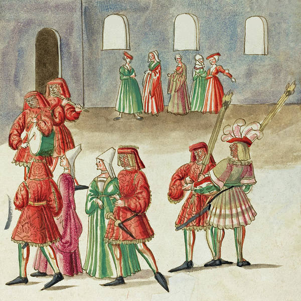 Painting -  Masquerade #14 by German 16th Century