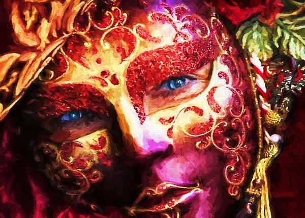 Digital Art - Masquerade 2 by Charmaine Zoe