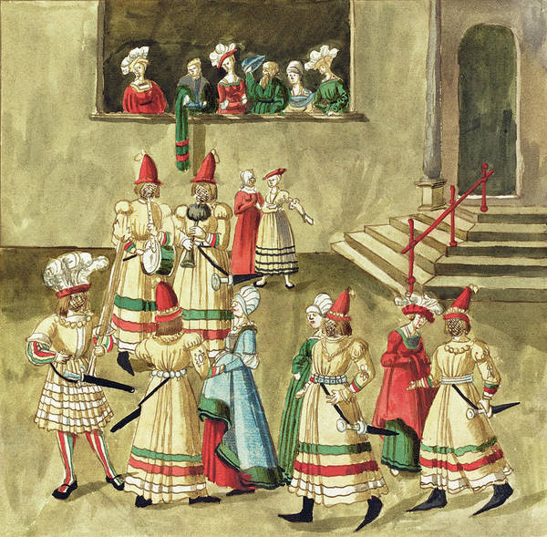 Painting -  Masquerade #2 by German 16th Century