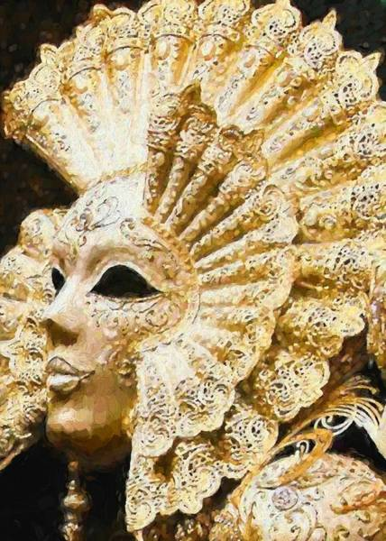Digital Art - Masquerade 3 by Charmaine Zoe