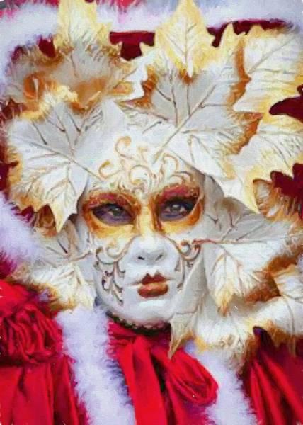 Digital Art - Masquerade 6 by Charmaine Zoe