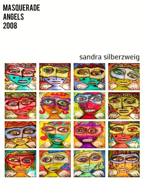 Painting - 0 Masquerade Angels by Sandra Silberzweig