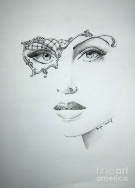 Drawing - Masquerade Ball by Tamyra Crossley