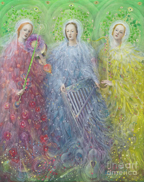 Choral Wall Art - Painting - Mass For Three Voices by Annael Anelia Pavlova