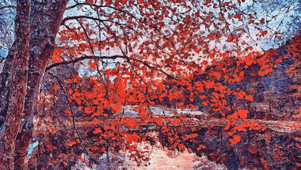 Painting - Massachusetts - Autumn Colors 02 by Andrea Mazzocchetti