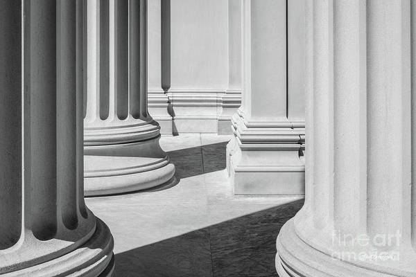 Photograph - Massachusetts Institute Of Technology Columns 1 by University Icons