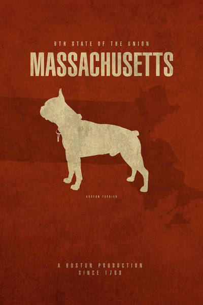 Wall Art - Mixed Media - Massachusetts State Facts Minimalist Movie Poster Art by Design Turnpike