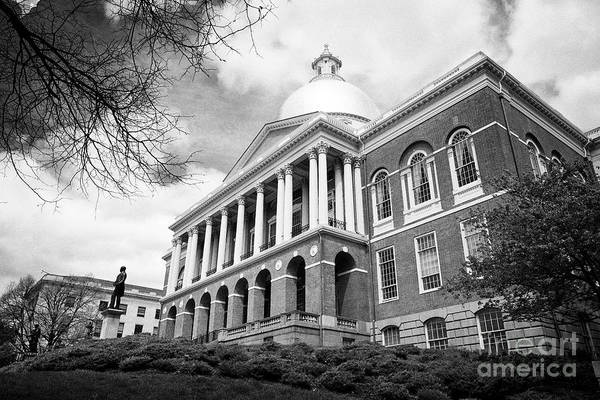 Wall Art - Photograph - Massachusetts State House State Capitol Building Boston Usa by Joe Fox