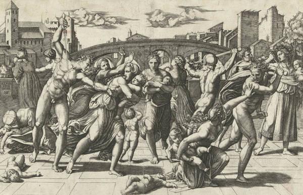 Innocence Drawing - Massacre Of The Innocents by Marcantonio Raimondi