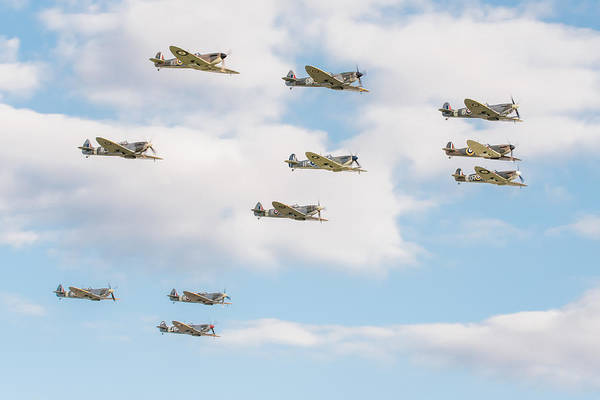 Photograph - Massed Spitfires by Gary Eason