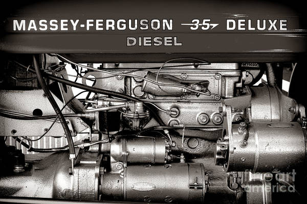 Photograph - Massey Ferguson 35 Deluxe  by Olivier Le Queinec