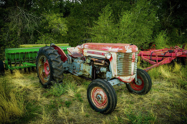 Photograph - Massey Ferguson 50 Tractor And Farming Equipment by TL Mair