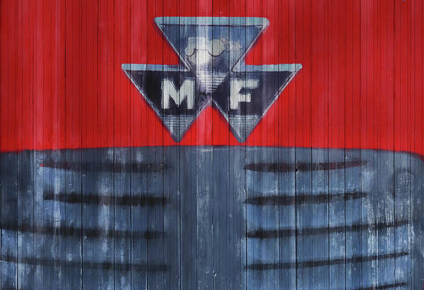Wall Art - Mixed Media - Massey Ferguson Barn Door by Dan Sproul
