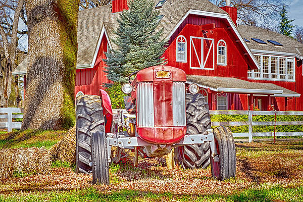 Photograph - Masseytractor At Red Farm House by William Havle