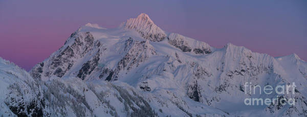 Wall Art - Photograph - Massive Mount Shuksan Dusk Sunset Panorama by Mike Reid