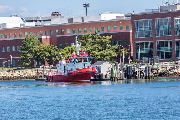 Photograph - Massport Fire Rescue by Brian MacLean