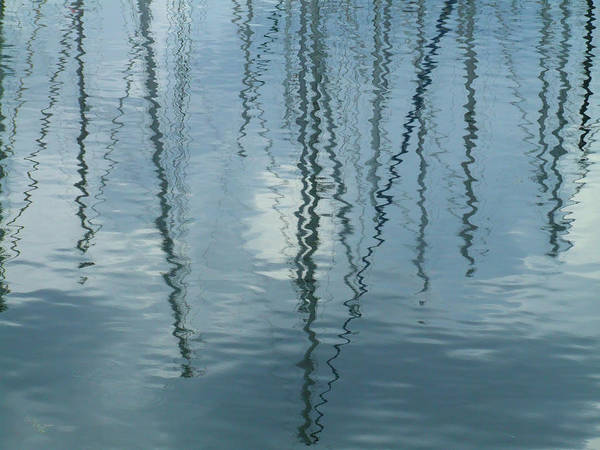 Photograph - Mast Reflections by Helen Northcott