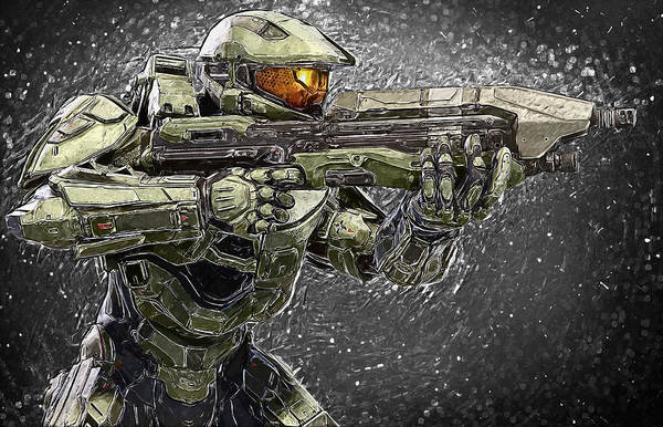 Digital Art - Master Chief by Zapista Zapista