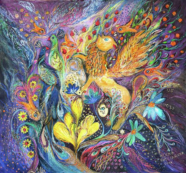 Chupah Wall Art - Painting - Master Of The Magic Key by Elena Kotliarker
