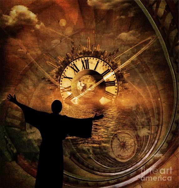 Wall Art - Digital Art - Master Of Time by Pierre Blanchard