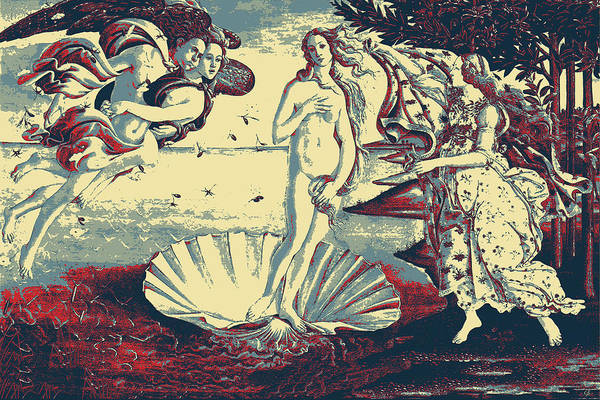 Digital Art - Masterpieces Revisited - The Birth Of Venus By Sandro Botticelli by Serge Averbukh