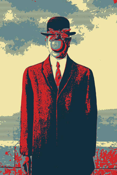 Digital Art - Masterpieces Revisited - The Son Of Man By Rene Magritte by Serge Averbukh