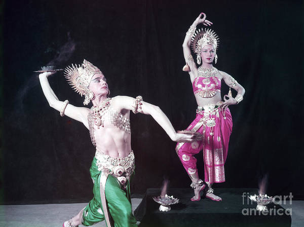 Belly Dancers Photograph - Mata And Hari, Comedic Dancers by The Harrington Collection