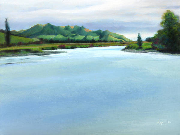 Painting - Mataura River Winter by Angela Treat Lyon