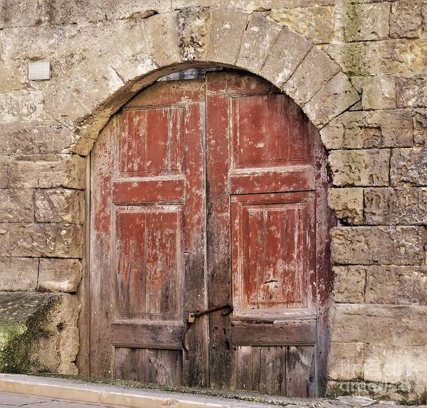 Painting - Matera Old Door by Laurie Morgan