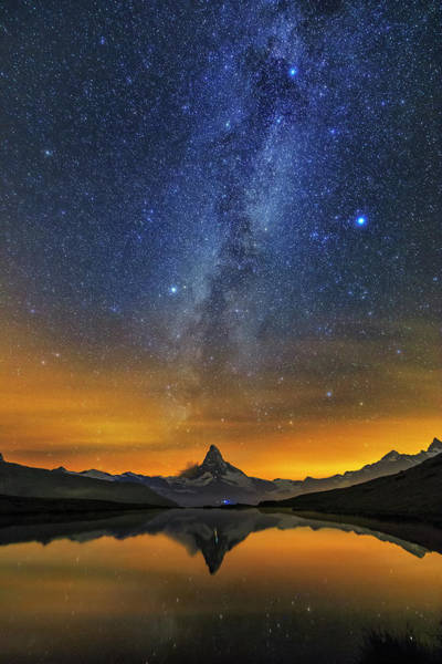 Photograph - Materhorn Milky Way by Ralf Rohner