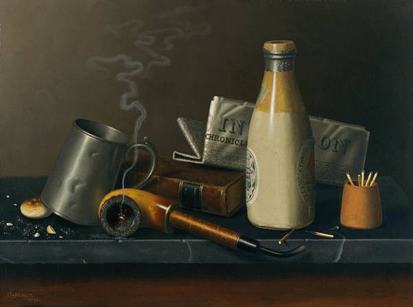 Wall Art - Painting - Materials For A Leisure Hour by Michael William Harnett