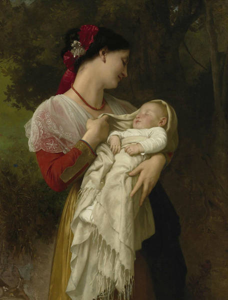 Painting - Maternal Admiration by William-Adolphe Bouguereau