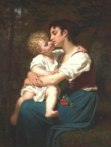 Subject Wall Art - Painting - Maternal Love by Hugues Merle