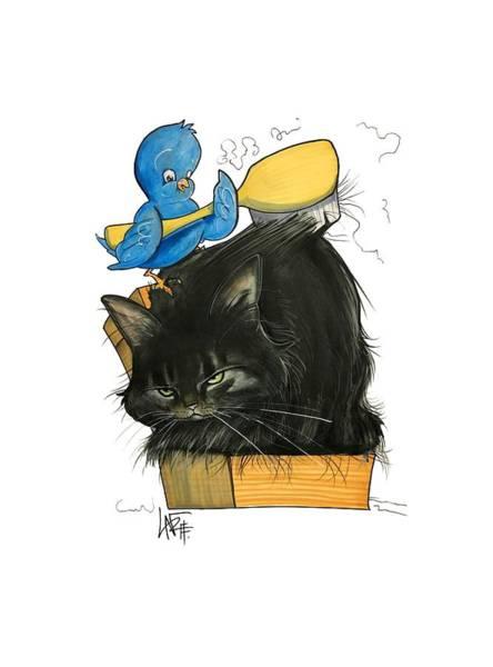 Pet Portrait Drawing - Mathes 3213 by John LaFree