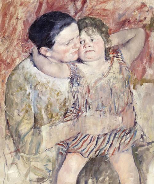 Cassatt Painting - Mathilde Holding A Child by Mary Stevenson Cassatt