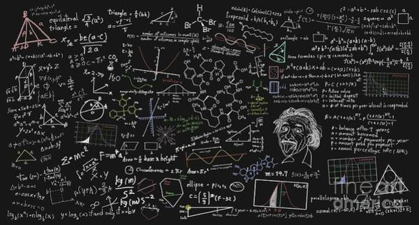 Equation Wall Art - Digital Art - Maths Formula by Setsiri Silapasuwanchai
