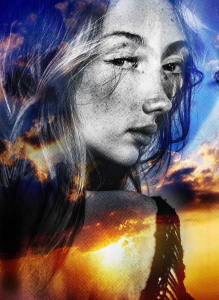 Psychosis Painting - Matilda's Sunset by Maciej Mackiewicz