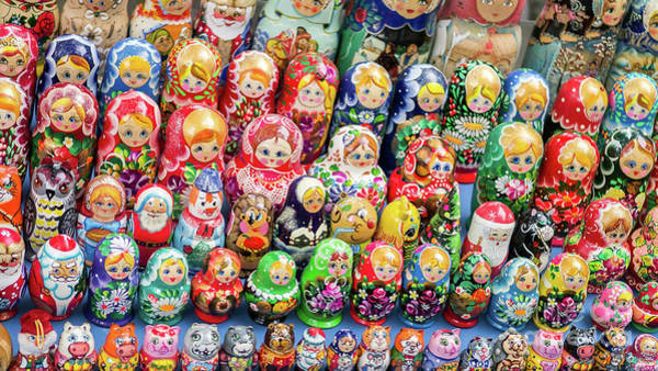 Photograph - Matryoshka Dolls For Sale In New York City by Edward Fielding