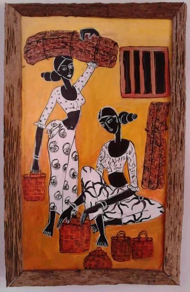 Wall Art - Painting - Mats Saller by Sudumenike Wijesooriya