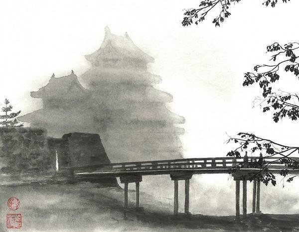 Wall Art - Painting - Matsumoto Morning Mist by Terri Harris