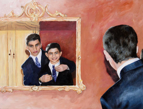 Matt And Perry Art Print by Denise H Cooperman