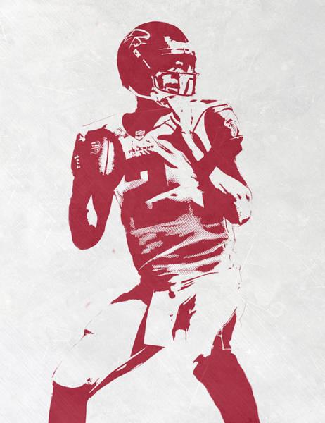 Atlanta Falcons Mixed Media - Matt Ryan Atlanta Falcons Pixel Art 2 by Joe Hamilton