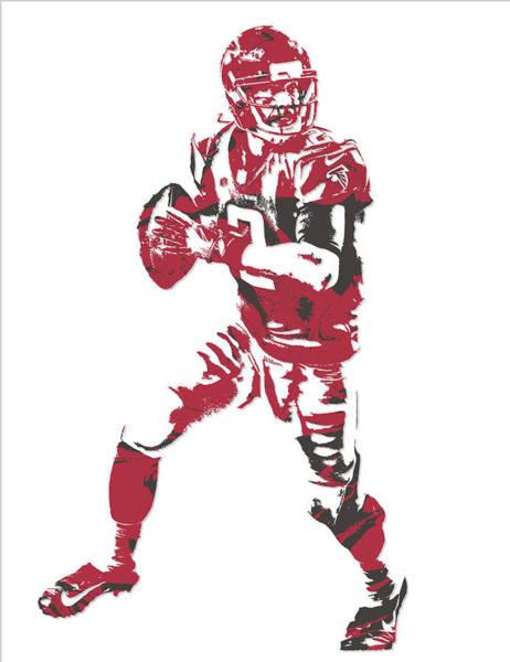 Atlanta Falcons Mixed Media - Matt Ryan Atlanta Falcons Pixel Art 5 by Joe Hamilton