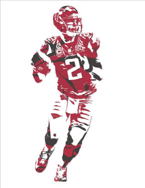 Atlanta Falcons Mixed Media - Matt Ryan Atlanta Falcons Pixel Art 6 by Joe Hamilton