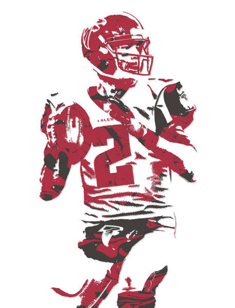 Super Bowl Mixed Media - Matt Ryan Atlanta Falcons Pixel Art 7 by Joe Hamilton