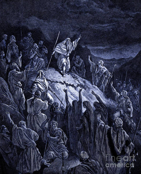 Wall Art - Drawing - Mattathias Appealing To The Jewish Refugees by Gustave Dore