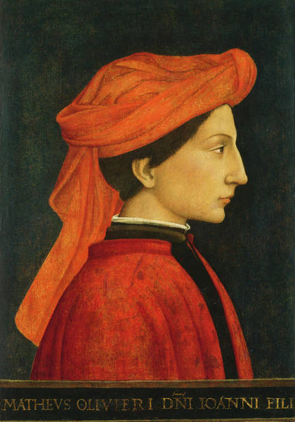 Painting - Matteo Olivieri by Florentine 15th Century