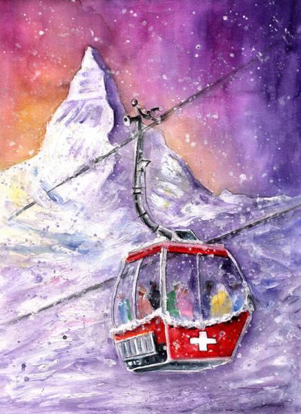Wall Art - Painting - Matterhorn Authentic by Miki De Goodaboom